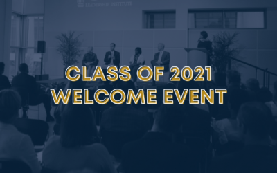 Class of 2021 Welcome Event Program