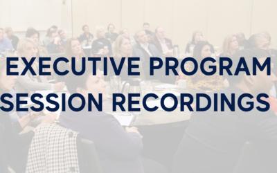 Executive Program Session Recordings